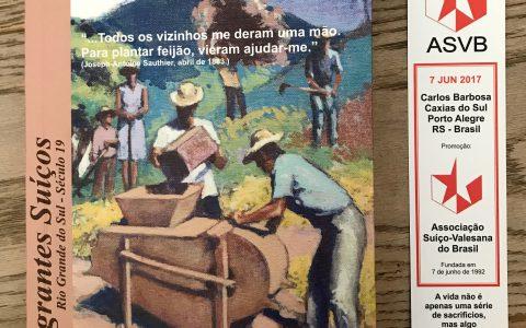Le livre d'un cousin brésilien sur l'émigration des Valaisans et des Suisses au Brésil