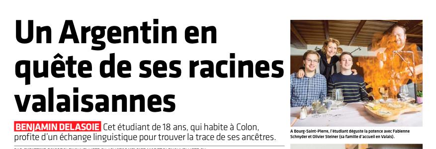 Sixième échange d'étudiants entre Sion et Colon (Argentine)